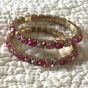 Jewelry - 💲3 for $15💲 Pink Bling Bracelets!